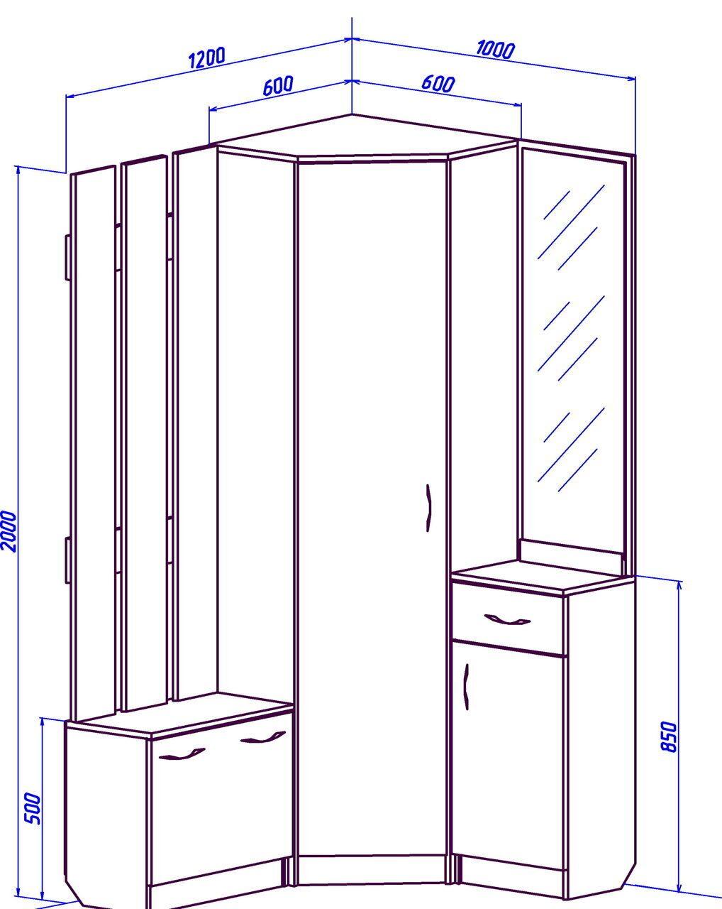 Проект шкафа для прихожей своими руками
