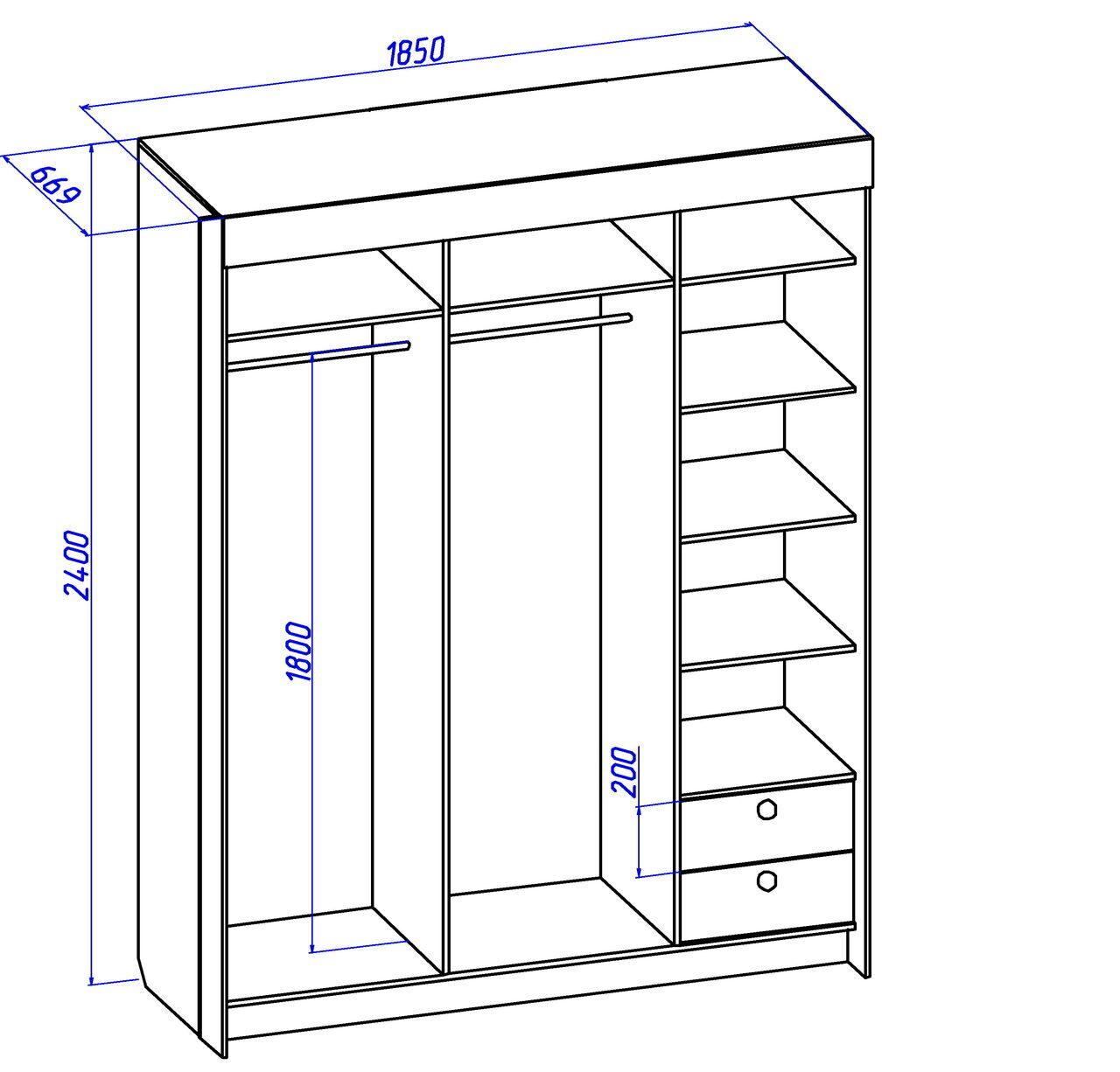 Узкий встроенный шкаф-купе в прихожую своими руками 9